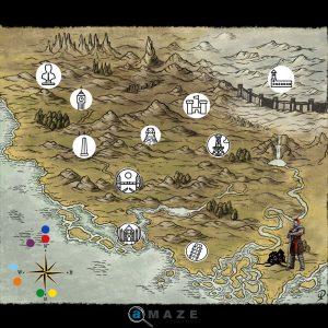 treasure map escape room riddle