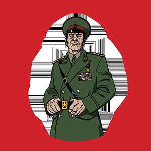 KGB General Escape Room Character