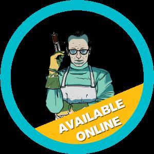 crazy doctor live online game logo